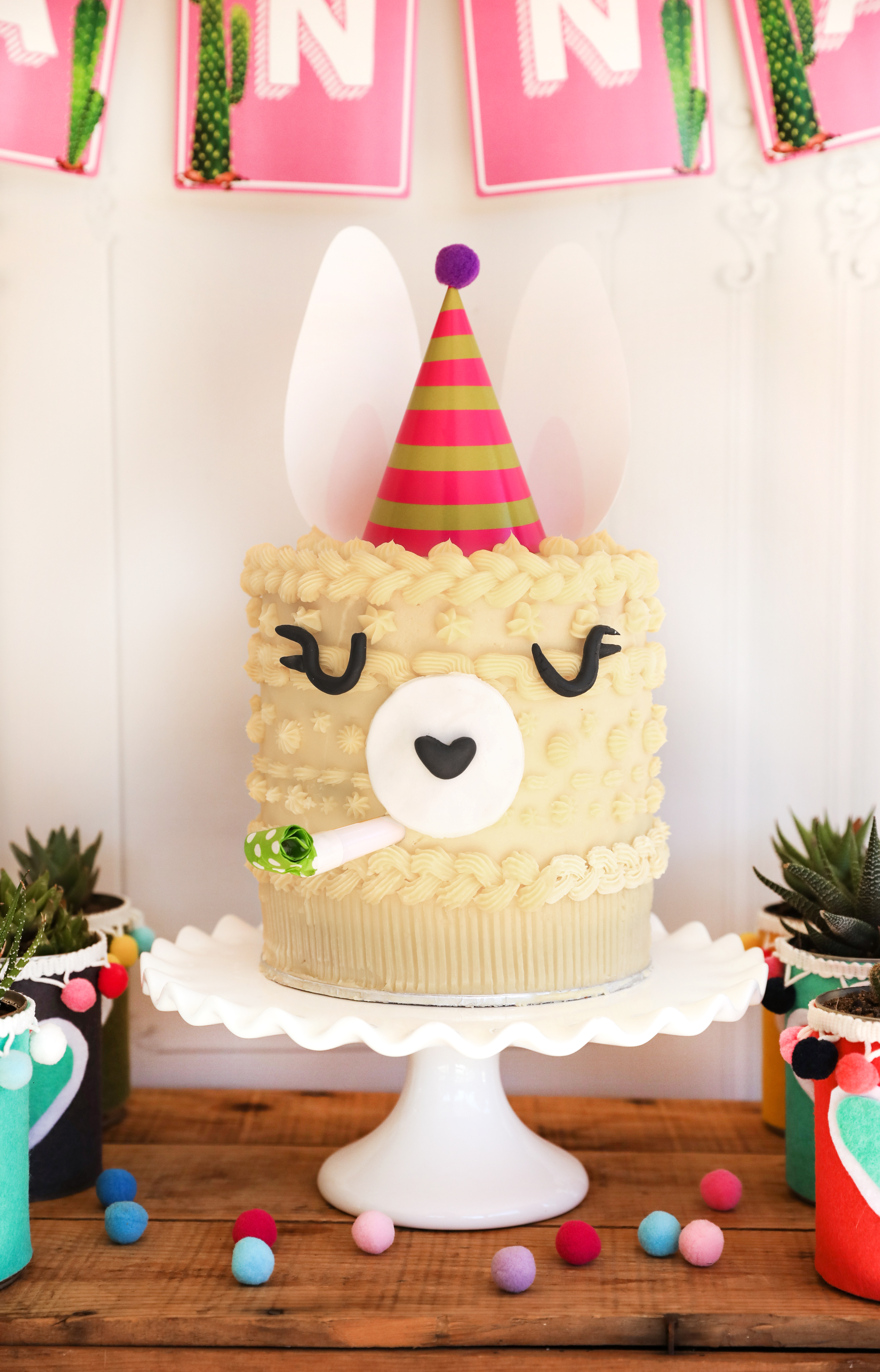 Llama Party Printables Cake Topper