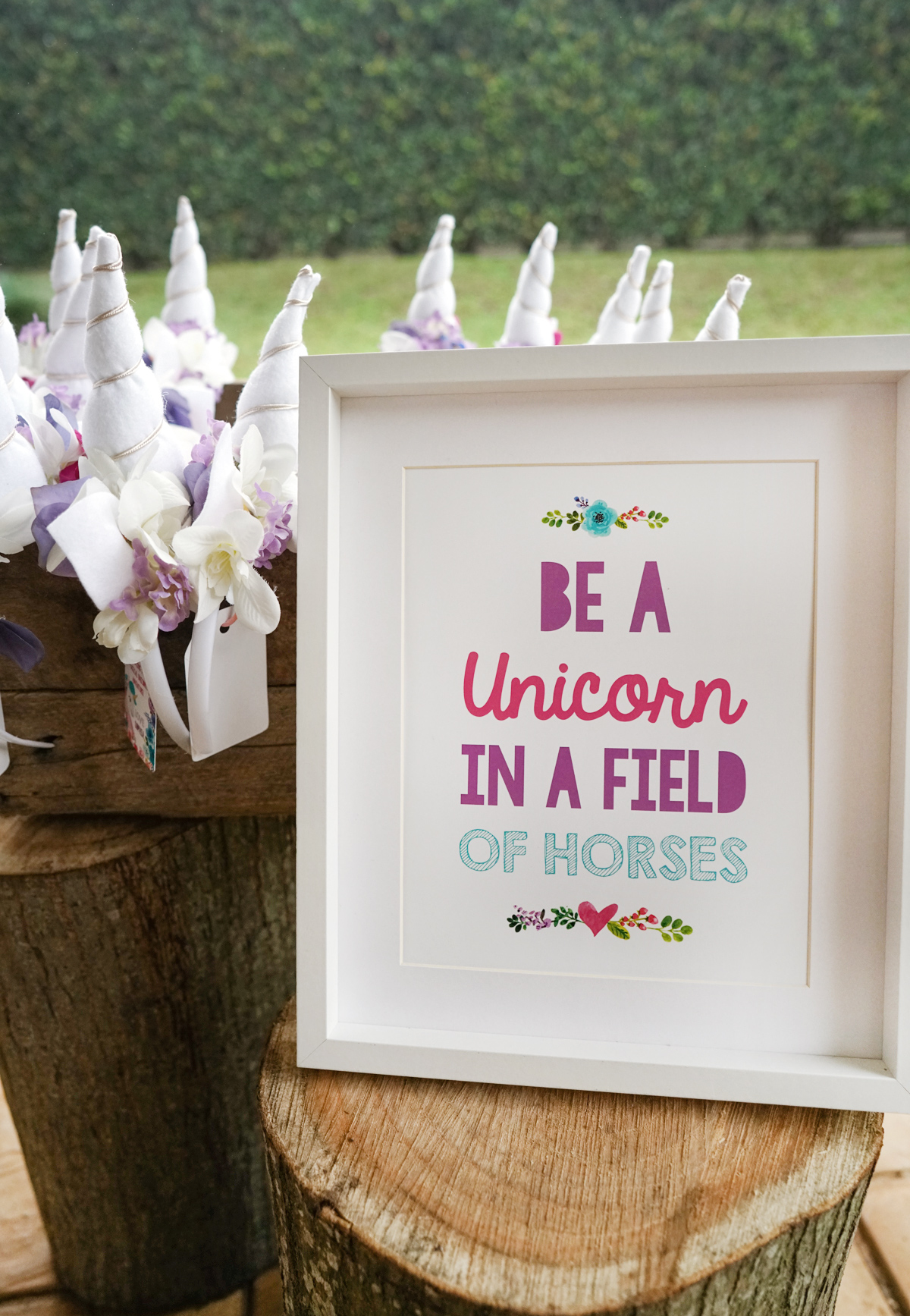 It's just an image of Be a Unicorn in a Field of Horses Free Printable for happy birthday card