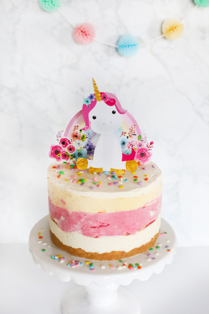 Ice Cream Cake Recipe Unicorn Amp Rainbow Cake Topper